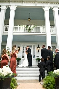 interesting idea to get married on a porch!