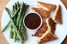 Crispy Tofu with Sesame Asparagus - Vegan