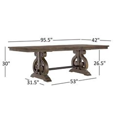 Extendable Dining Table Set, Diy Dining Table, Dining Table Design, Dining Room Sets, Console Table, Colonial Furniture, Bar Furniture, Farmhouse Kitchen Decor, Farmhouse Table