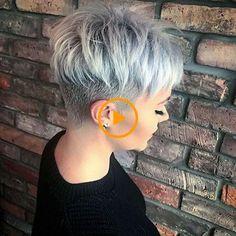 Funky Short Hair, Short Grey Hair, Short Hair Styles Easy, Short Hair Cuts For Women, Short Hairstyles For Women, Short Messy Haircuts, Hair Cute, Classic Haircut, Pixie Hairstyles