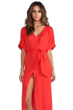 Charlie by Matthew Zink Charlie Caftan in Lipstick from REVOLVEclothing