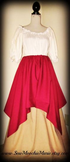 Custom Made Renaissance Skirts and Chemise Set, SCA, Larp, Faire by SewMoochieMarie for $110.00