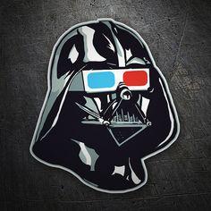 Pegatinas: Darth Vader con gafas 3D #Star Wars #TeleAdhesivo