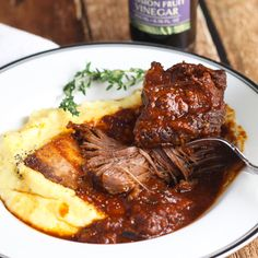 Braised Short Ribs - Slow cooked in red wine and served with a creamy polenta.| Platings & Pairings