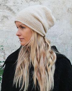 vinter strikhue i cashmere uld strikkekit