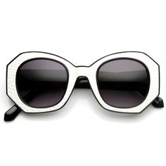 - Description - Measurements - Shipping - Wonderfully designed block cut pattern sunglasses that features a stylish hexagonal shaped frame. Each pair is designed with a unique flat pattern that almost