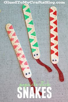 Popsicle Stick Snakes - Kid Craft