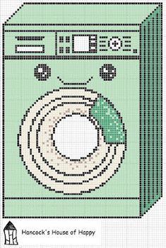 Cute Little Washing Machine Cross Stitch Chart