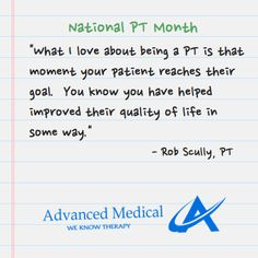 #PTmonth #NPTM -pinned by @advancedmedical