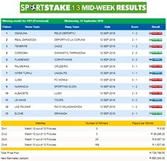 29 january 2018 sportstake results and prizes