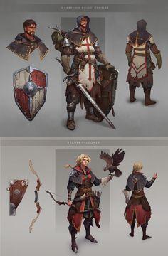 Character Concept by Anna Kharitonova Fantasy Character Design, Character Creation, Character Drawing, Game Character, Character Concept, Fantasy Armor, Medieval Fantasy, Dnd Characters, Fantasy Characters