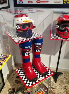Bell Moto 3 and Scott boots....had the Moto 3 but always wanted a pair of Scott boots!!!