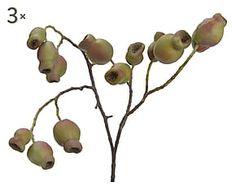 Set di 3 rami di Guava artificiale in poliestere - h 58 cm