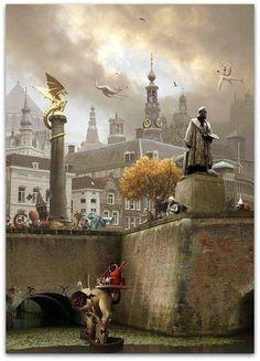 Jeroen Bosch - photo impression from the town of Jheronimus Bosch 's-Hertogenbosch in the Netherlands
