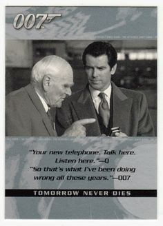 James Bond - The Quotable #  23 - Tomorrow Never Dies