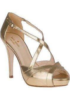 c9dab4cb2d6 Kate Spade - Get Evening Pump Old Gold Leather Gold Shoes
