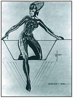 Syd Mead's Yori Costume for 'Tron' (1982)