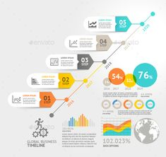 Business Timeline Elements Template  Ai Illustrator Timeline And