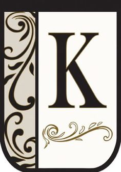 Monogram K Applique Decorative House Flag by Carson. $11.99. Made from high-quality nylon fabric. Weather and fade resistant. Monogrammed and 2-side readable. Let this decorative house flag welcome everyone to the 'K' homestead. Monogram of letter K, appliqued and outlined with golden thread, stands out against a bright white field on this large yard flag. What better way to let everyone know where your 'home sweet home' is, add this decorative flag to your shipping basket today!