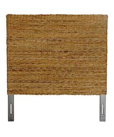 Made of natural twisted abaca fiber woven in a sweater weave pattern, this headboard adds a rustic style to any space. A metal bed frame can be attached to the base of this versatile. Home Bedroom, Bedroom Decor, Master Bedroom, Metal Beds, Headboards For Beds, Find Furniture, Rustic Style, Home Renovation, Wood Projects