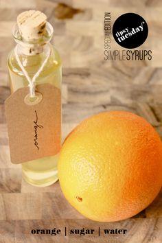 Fabric Paper Glue | Gin Fizz w/ Orange Simple Syrup