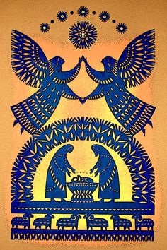 Christmas Images, A Christmas Story, Christmas Art, Ukrainian Christmas, Paper Art, Paper Crafts, Retro Christmas Decorations, I Believe In Angels, Batik Art