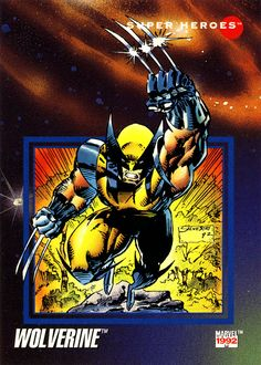 Trading cards from comic books, including Marvel, DC Comics, Image and more. Marvel Wolverine, Gambit Marvel, Marvel Comics Superheroes, Marvel Comic Books, Comic Movies, Marvel Memes, Comic Books Art, Marvel Avengers, Book Art