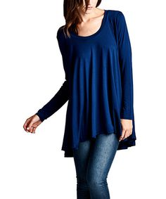 Another great find on #zulily! Navy Hi-Low Tunic #zulilyfinds