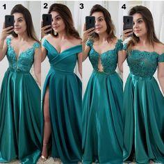Vestido chique, roupas de festa, vestido de festa, vestido verde curto, f. Green Bridesmaid Dresses, Homecoming Dresses, Wedding Dresses, Elegant Dresses, Pretty Dresses, Formal Dresses, Gala Dresses, Evening Dresses, Simple Prom Dress