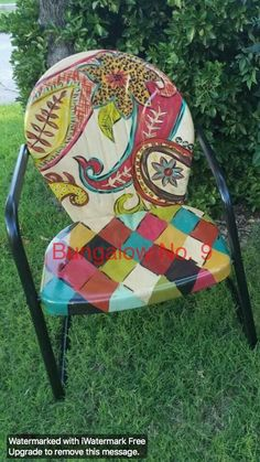 Make your cheep gardenchair like this.