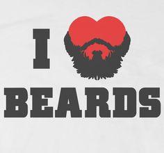 I Love Beards T-Shirt Front
