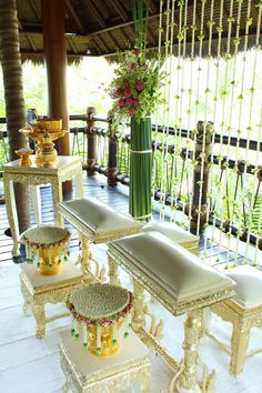 """At Four Seasons Resort Koh Samui, Thailand, we give you the flexibility to create your own distinctive event, for a day as unique as your love. How about """"East meets West"""" - get married in the Thai tradition with a Buddhist religious ceremony for an auspicious marriage? #LuxBride @Four Seasons Bridal"""