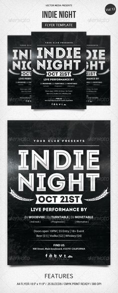 Indie Night - Flyer [Vol.13]