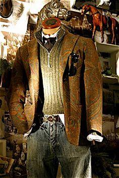 Paisley jacket.   Great autumnal ensemble addition