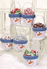 Craft ideas - Christmas Ideas - pottery, pots and terra cotta
