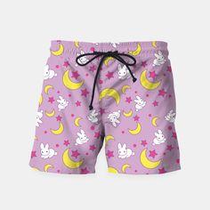 Sailor Moon's Pattern Swim Shorts
