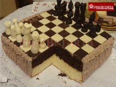 Tarta ajedrez de cumpleaños (sin gluten)