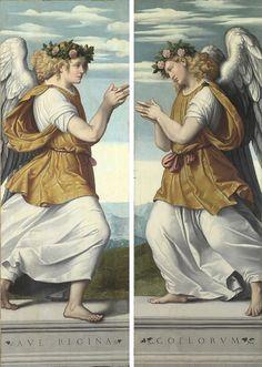 MORETTO da Brescia, Ángeles adoradores, 1540, National Gallery