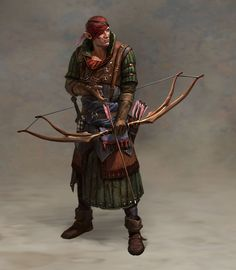 "Concept art of Iorveth from the PC Game ""The Witcher 2 - Assassins of Kings"""
