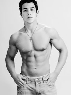 nick jonas he isn't little anymore. Oh hot damn.