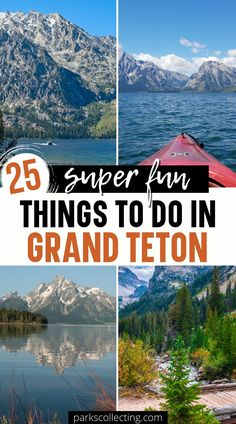 25 fun things you must do when you visit Grand Teton. Plan your Grand Teton road trip itinerary around these around these best things to do in Grand Teton National Park. Spend one day in Grand Teton | One week in Grand Teton | three day Grand Teton itinerary | the best of Grand Teton National Park | Grand Teton hikes | Grand Teton National Park things to do | Grand Teton bucket lists | Wyoming road trip | Visit Wyoming | best USA national parks | travel USA American National Parks, National Parks Map, Grand Teton National Park, Travel Info, Travel Guides, Travel Tips, Canada Travel, Usa Travel, Places To Travel