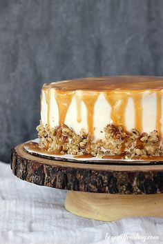 Thanksgiving Menu :: Sweet Potato Cake with Bourbon Caramel Cream Cheese Frosting