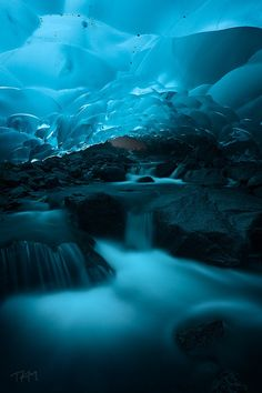 Ice cave under Mendenhall Glacier • Alaska • USA
