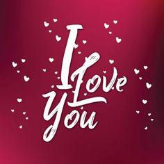 """Carte de Voeux Dématérialisée """"I Love You"""" I Love You, Love My Husband, Messages, Neon Signs, Stickers, Parfait, Couple, Key, Greeting Card"""