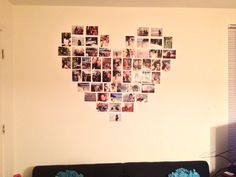 Heart collage on the wall <3