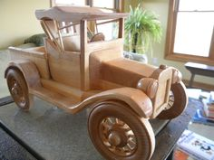I made this 1919 Model-T Runabout replica from soft maple and am NOW TAKING ORDERS. It could be used as a toy for an older child and is also