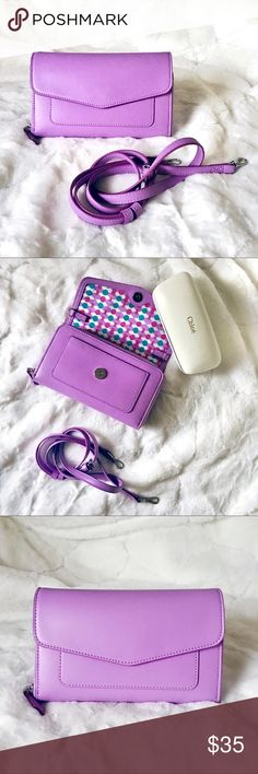 Lavender Crossbody/Clutch Negotiable NWT Removable and adjustable straps Money holder with card slots Vera Bradley Bags Crossbody Bags