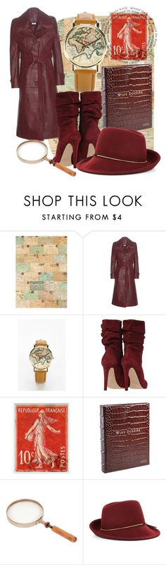 """""""Where In The World Is Carmen Sandiego?"""" by jamielynn2323 ❤ liked on Polyvore featuring Cavallini, Vetements, Urban Outfitters, Soicher Marin, Frontgate and BCBGMAXAZRIA"""