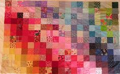 Classic patchwork quilt look and not these specific colors but the idea of several different shades/patterns of one color