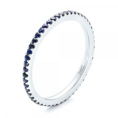 http://rubies.work/0737-blue-sapphire-earrings/ Custom Eternity Blue Sapphire Anniversary Band